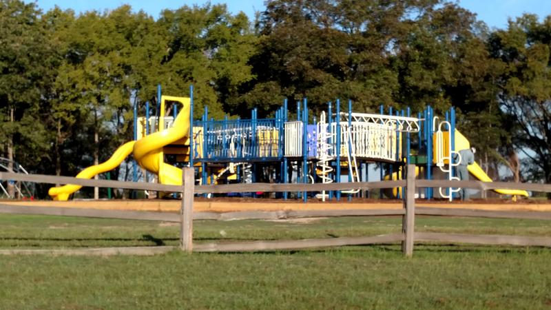 The New Playground Equipment has been installed at the Nature Preserve.